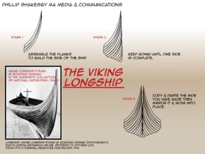 Viking long ships by Phillip Shakseby 01