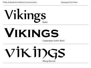 final three typefaces